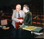 Sergiu Comissiona mit Hartmut Schmidt in Israel