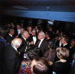 Tonhalleneröffnung 1978: Bundespräsident Walter Scheel im Gespräch mit Prof. Werner Schmalenbach
