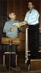 Laszlo Heltay und Hartmut Schmidt anläßlich der Klavierprobe zu