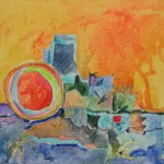 24904 Summer in the city  acrylic SOLD