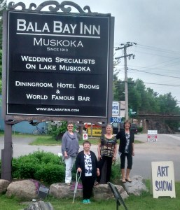 Lynda Lynn, Pat Whittle, Wendie Donabie, Janice Feist at Bala bay Inn MLSAT Jun 14
