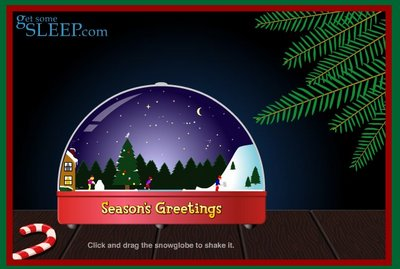 Picture of snowglobe flash animation