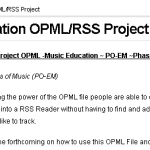 Major Update To The PO-EM Project (Music Educator RSS/OPML)