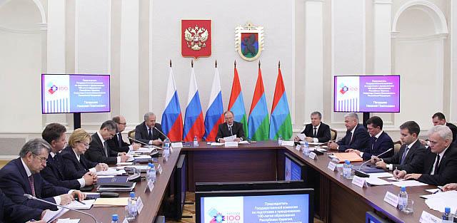 На заседании Госкомиссии. Фото: gov.karelia.ru