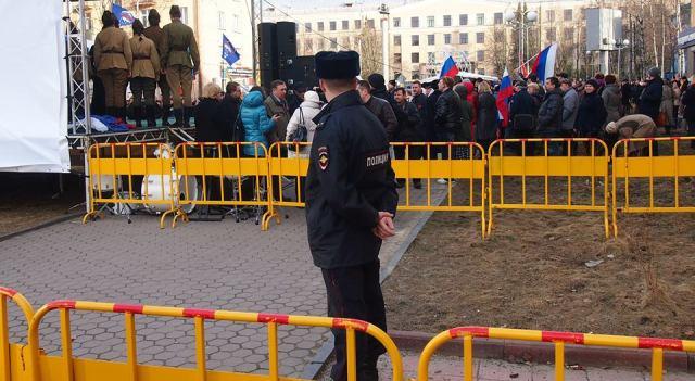 В прошлом году на Студенческом бульваре встретились патриотическая и протестная акции. Фото: Валерий Поташов