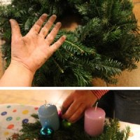 DIY-Idee: Adventskranz selbst gemacht