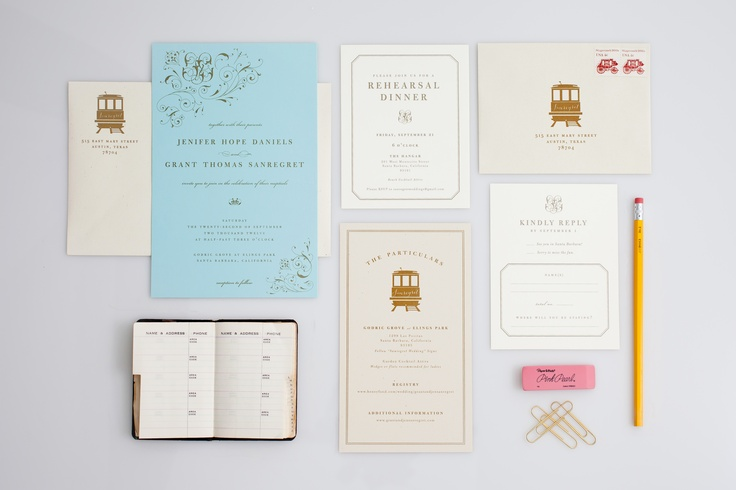 Invitaciones de boda para novios sobrios y elegantones.