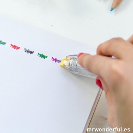 Mr.Wonderful cinta decorativa cocodrilos