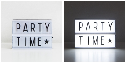 party time lightbox