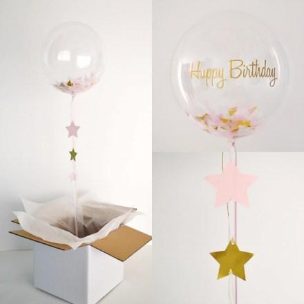 globo-transparente-confetis-rosas-y-dorados