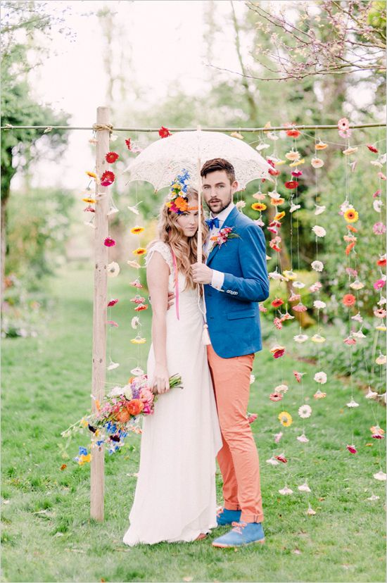 ¿Lluvia en mi boda? Sí, pero de flores