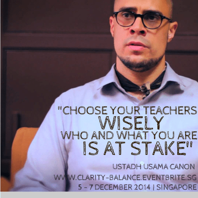 Choose teachers wisely