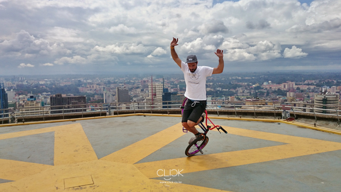BMXing on the Helipad