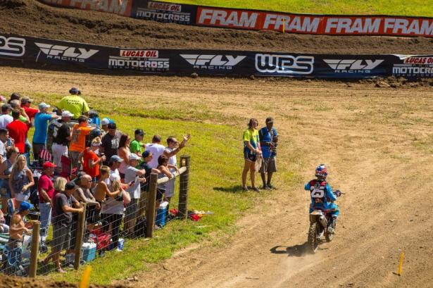 Musquin's title hopes were dashed with a DNF in Moto 1.Photo: Simon Cudby