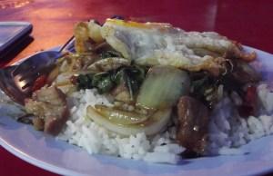 Thai Food - Ga Pow Moo Kai Dao