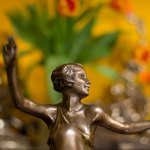 PHOTO: Art Nouveau bronze sculpture of a dancer.
