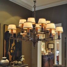 PHOTO: Chandelier from Jessica LaGrange Interiors.