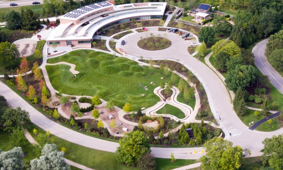 PHOTO: The Regenstein Learning Campus, as viewed by drone.