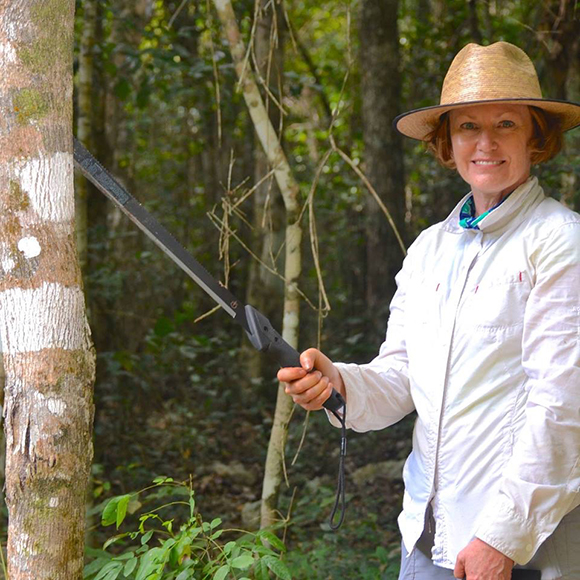 Louise Egerton-Warburton's work examines soil fungal diversity and functioning and its role in ecosystem processes.