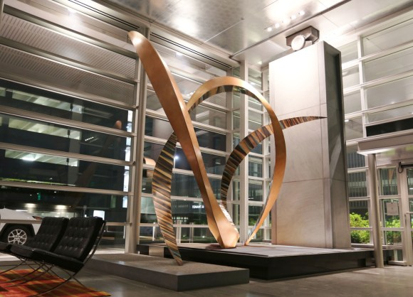 PHOTO: Equipoise by Michael Szabo, Bronze, 14' x 11' x 9', 2015, Tysons Corner, VA