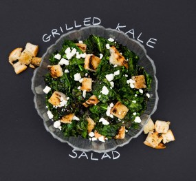 Grilled kale salad.