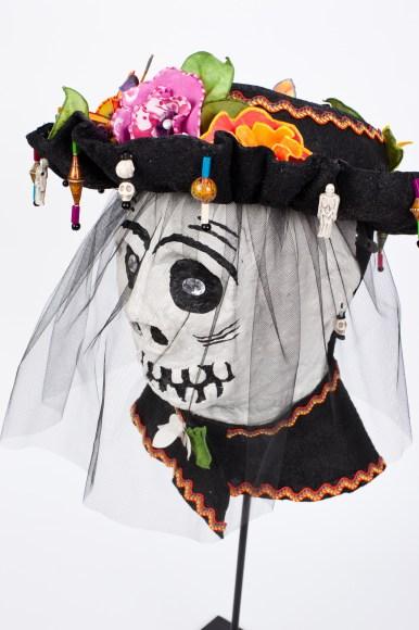 """PHOTO: """"Dia de los Muertos"""" mask."""