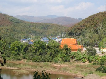 PHOTO: View of Menglun Village, China.