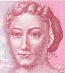 PHOTO: Anna Maria Sibylla Merian from the 500 DM Banknote.