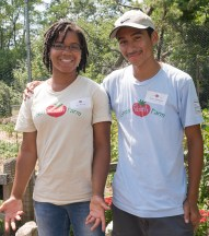 PHOTO: Green Youth Farm participants.