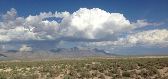 PHOTO: Panorama of the New Mexican desert.