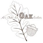 Oak leaf and acorn illustration.