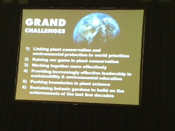 Grand challenges for botanic gardens by Peter Wyse Jackson.