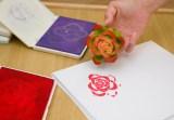 rose blossom celery stamp