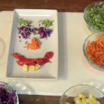 PHOTO: Face made from veggies.
