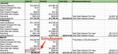My Debt Repayment Spreadsheet - My Alternate Life