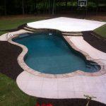 Grey Fiberglass Steps and Swim Out Bench