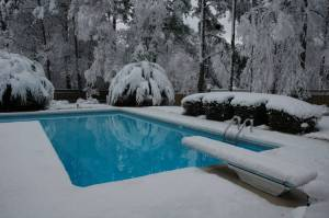 Evans, GA pool in winter