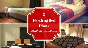 5 Free Floating Bed Frame Plans