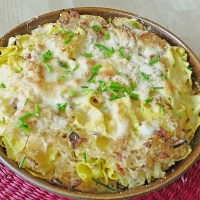 Authentic German Recipe Sauerkraut Pasta Gratin
