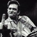 Johnny Cash Flips Bird