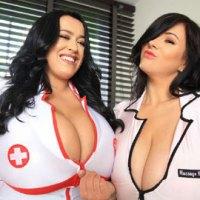 Leanne Rachel Tit Squeezing Nurses