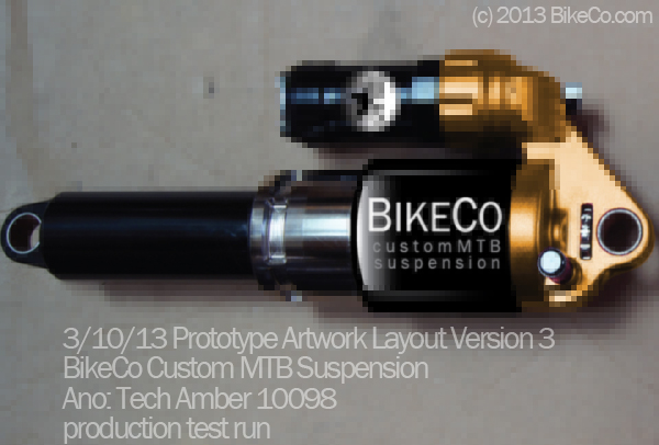 BikeCo CustomMTB Suspension Prototype colorway