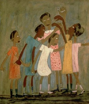 "William H. Johnson, ""Chlldren Playing London Bridge"""