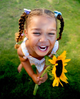 African American girl laughing