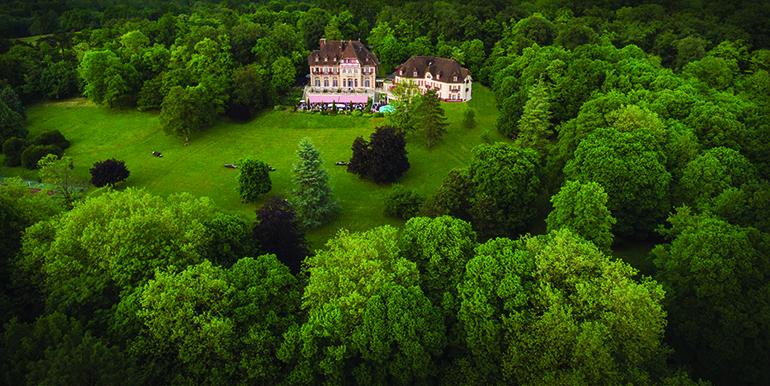 vue aerienne chateau Bruno Cohen