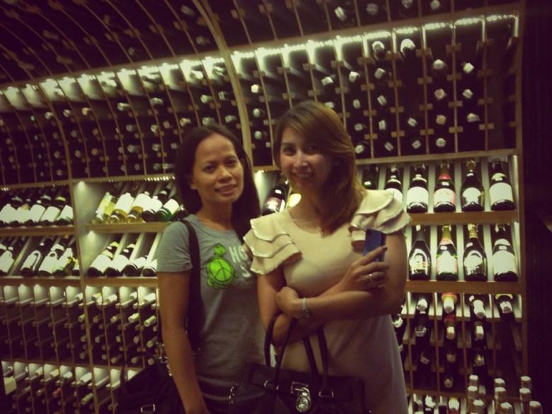 La Vie Parisienne's wine library.