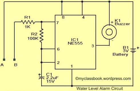 Water-Level-Indicator-Alarm-Circuit