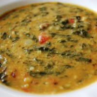 Dal Palak / Spinach Dal / Lentils and Spinach Curry