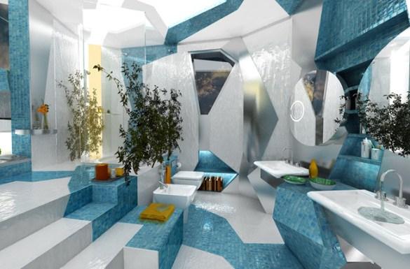 ultra modern futuristic interior design Ideas-bathroom