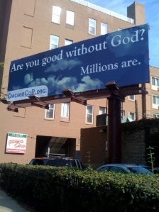 Atheist Billboard in Downtown Chicago